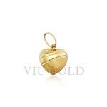 Pingente de coração em ouro 18K amarelo