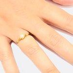 Anel em ouro 18k com pérola de 4,5 mm natural