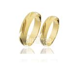 Alianças de Noivado e Casamento em Ouro Amarelo 18k FA-189