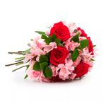 Buquê de Rosas e Alstroemérias