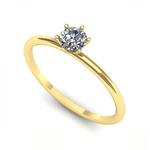 Anel Solitário de Diamante Taguatinga