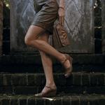 Sandália Em Couro Susan Anabela Argila J.Gean BM0006/25