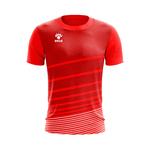 Camisa Jogo Vermelha com detalhes em Listras Brancas