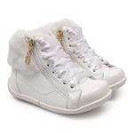 Tênis Sneaker Verniz Branco