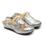 Mule de Glitter Prata Infantil Gats