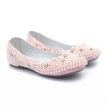 Sapato Rosa de Pérolas Feminino Infantil Gats