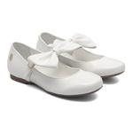 Sapato Boneca Laço Branco Infantil Gats