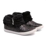 Tênis Sneaker Gliter Preto Feminino Infantil Gats