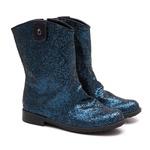 Bota de Glitter Azul Infantil Gats