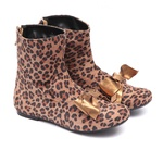 Bota de Laço Animal Print