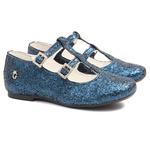 Sapatilha de Glitter Azul Infantil Gats