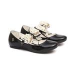 Sapato Boneca Laço Pérolas