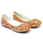 Sapato de Miçangas Colorido Feminino Gats