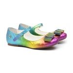 Sapatilha de Laço Cristal Arco-Íris