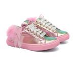Tênis Sneaker Penas Rosa