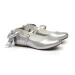 Sapatilha Laço Metalizado Prata