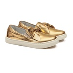 Tênis Slip On Laço Dourado Infantil Gats