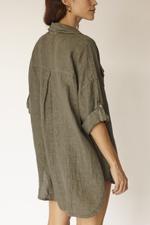 Camisa Linho- Verde