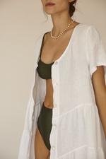 Vestido Anne Linho Italiano. Branco/Tamanho Único