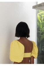 Top Marie Amarelo Pêra Texturizado