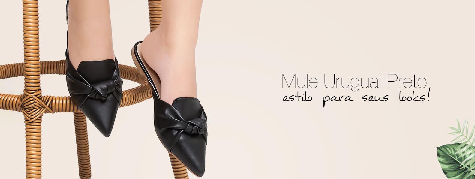 Mule Preto - Violanta Calçados