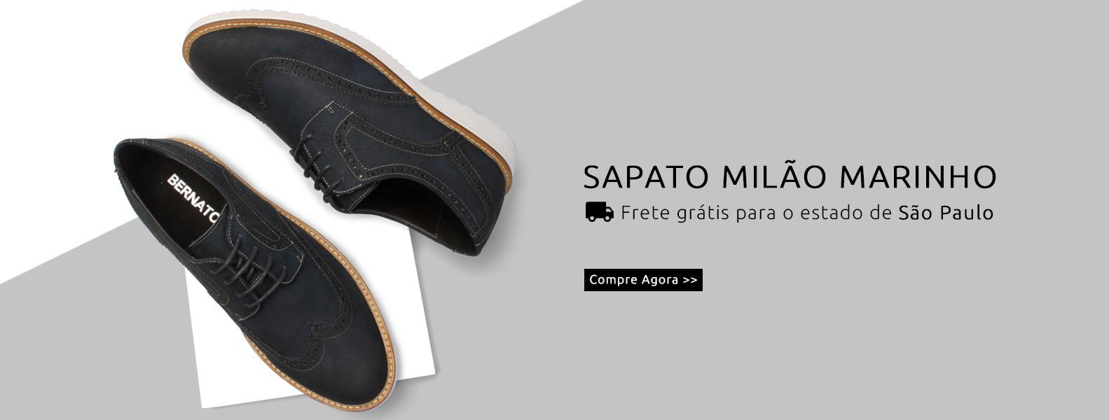 Sapato Milão Marinho - Bernatoni Calçados