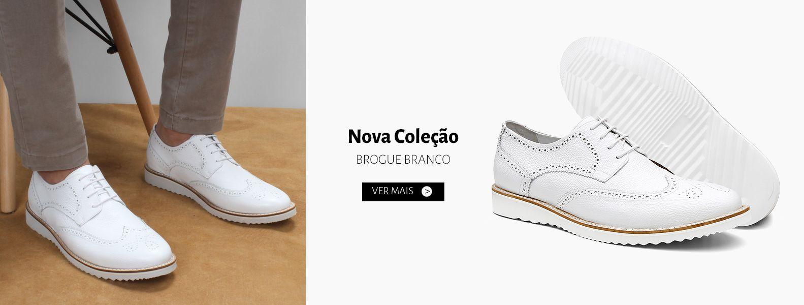 Sapato Brogue Bernatoni Milão Branco - Bernatoni Calçados