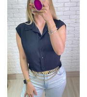 CROPPED CAMISA - PRETO