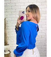 CROPPED CAMY - AZUL