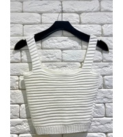 CROPPED TRICOT RELEVO - OFF