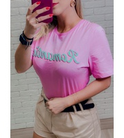T-SHIRT ROMANTIC - ROSA