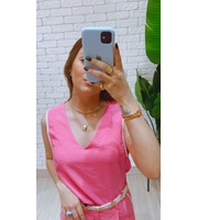 BLUSA CROPPED - ROSA CHICLETE