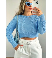MAXI CROPPED TRICOT MARIANE - SKY