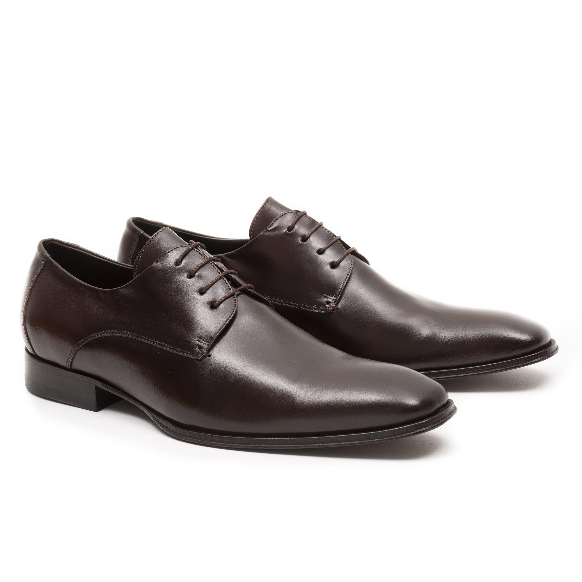 Sapato Social Masculino Derby Marrom Couro Legítimo Monbran Dressy 05756C
