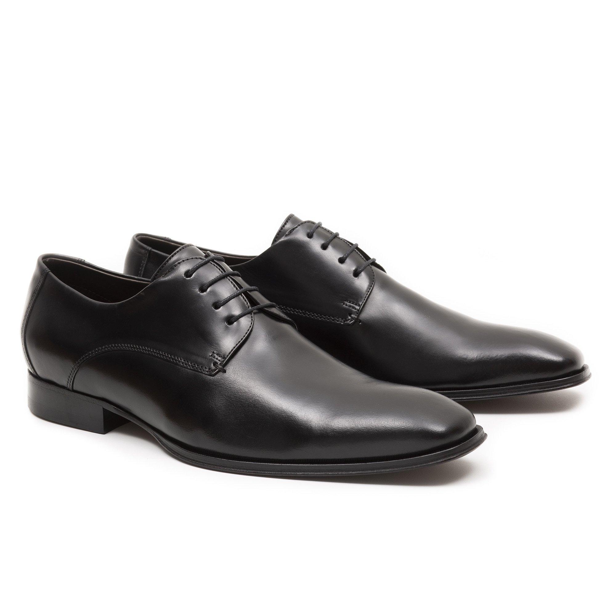 Sapato Social Masculino Derby Preto Couro Legítimo Monbran Dressy 05756P