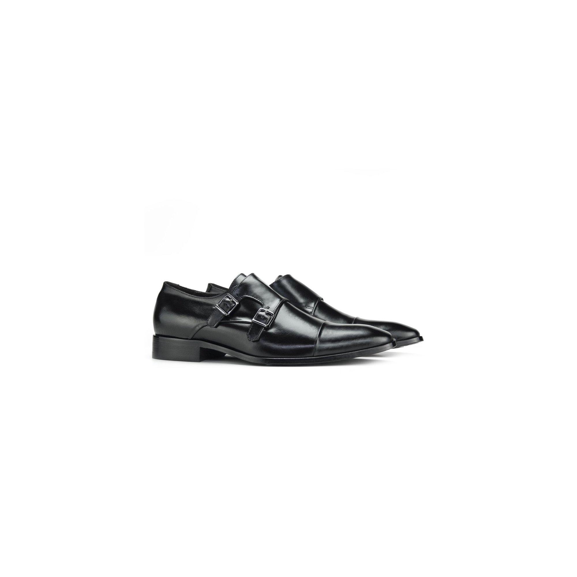 Sapato Social Masculino Monk Strap Preto Couro Legítimo Monbran Dressy 0319039P