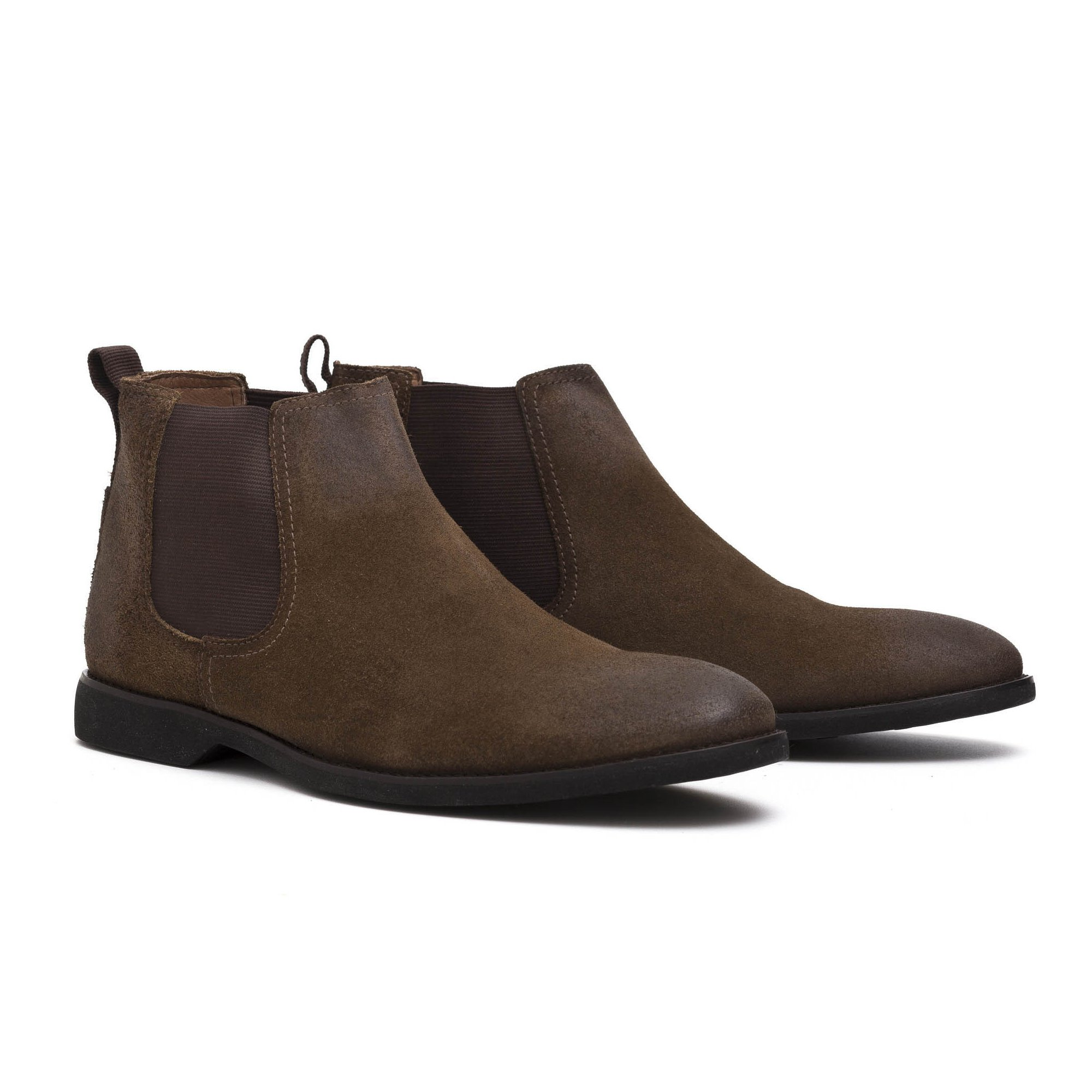 Bota Chelsea Masculina Tabaco Couro Legítimo Monbran Dressy Wolves 1445CT