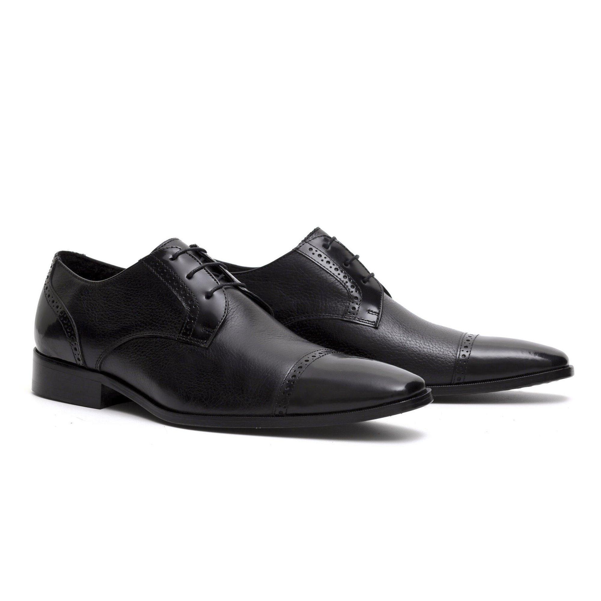 Sapato Social Masculino Preto Couro Legítimo Monbran Dressy 032301P