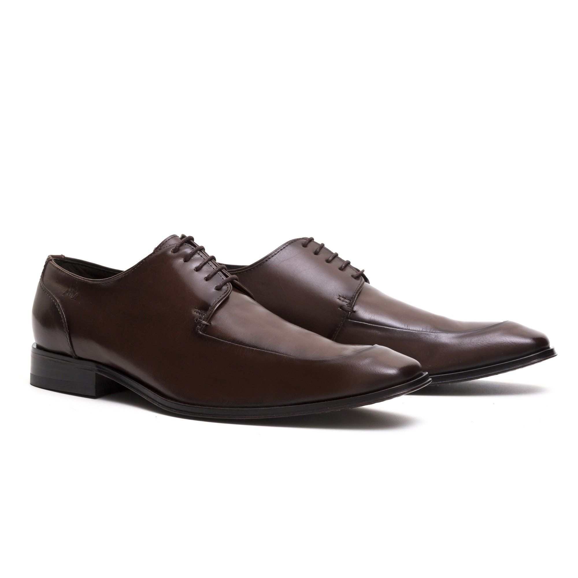 Sapato Social Masculino Derby Marrom Couro Legítimo Monbran Dressy 057590M