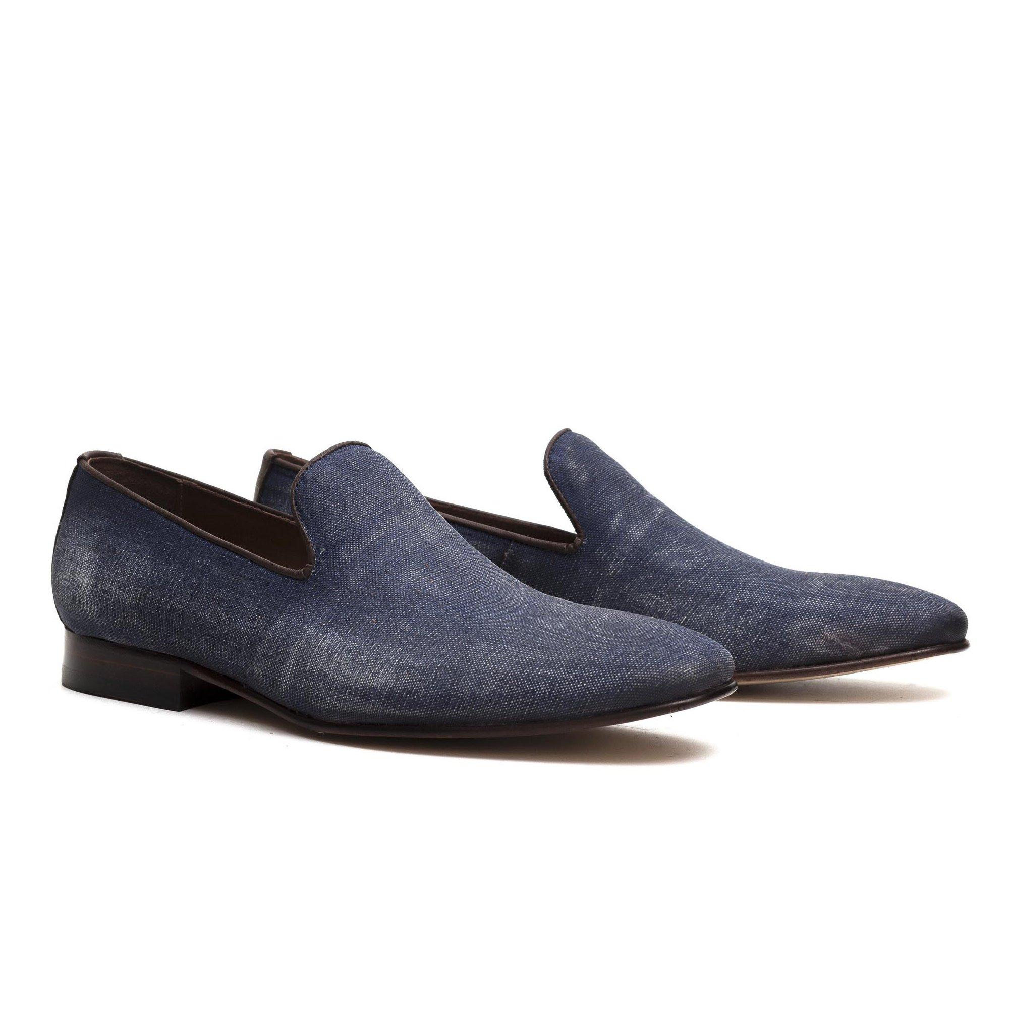 Sapato Casual Slipper Jeans Azul Estonado Monbran Dressy Gala 11600J