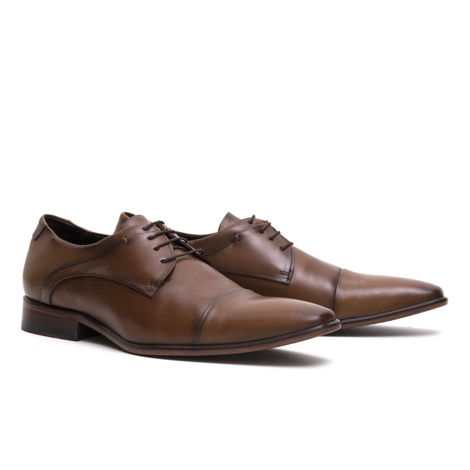 Sapato Social Derby Whisky Couro Legítimo Monbran Dressy Jack 032300W