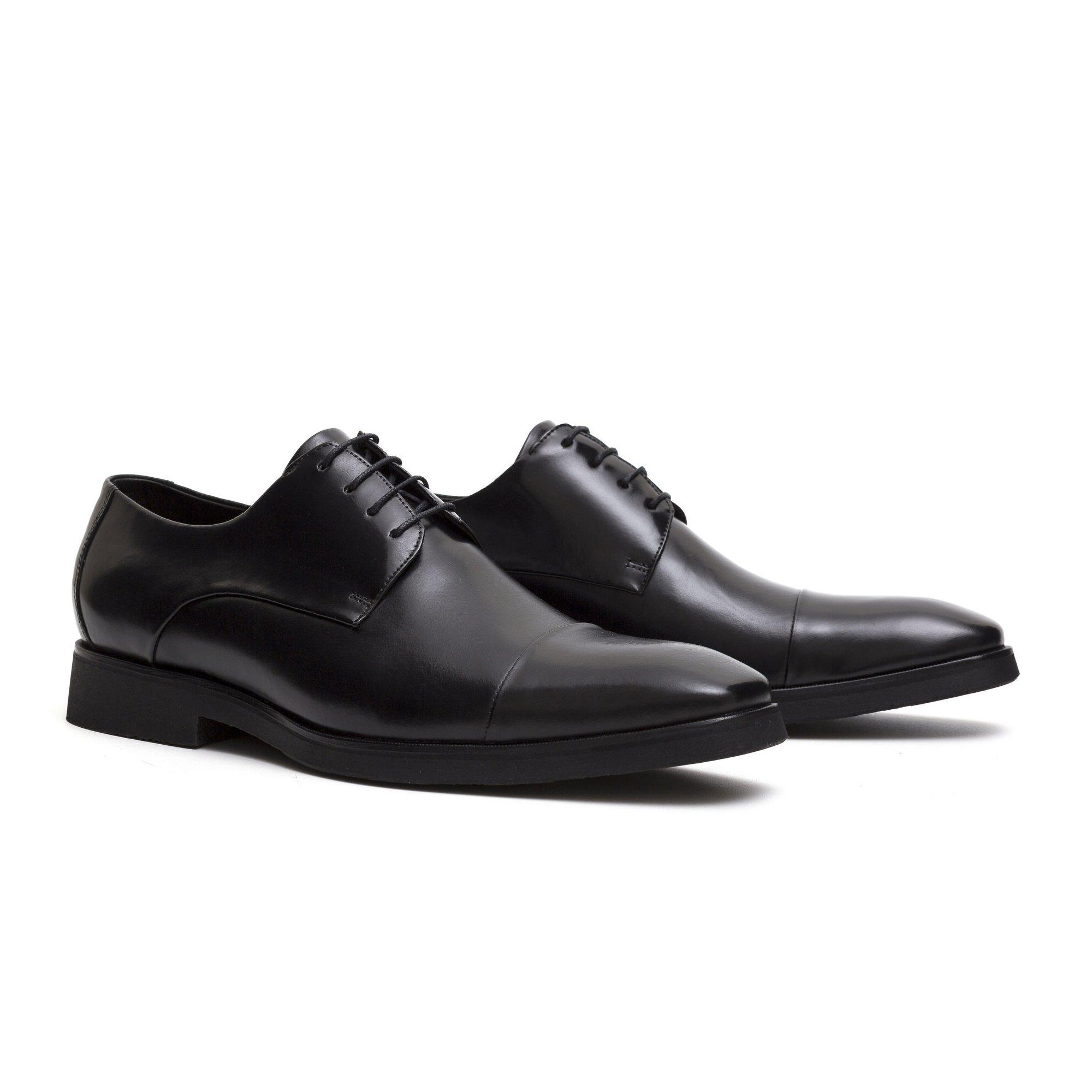 Sapato Social Derby Masculino Preto Couro Legítimo Monbran Dressy James 19100P