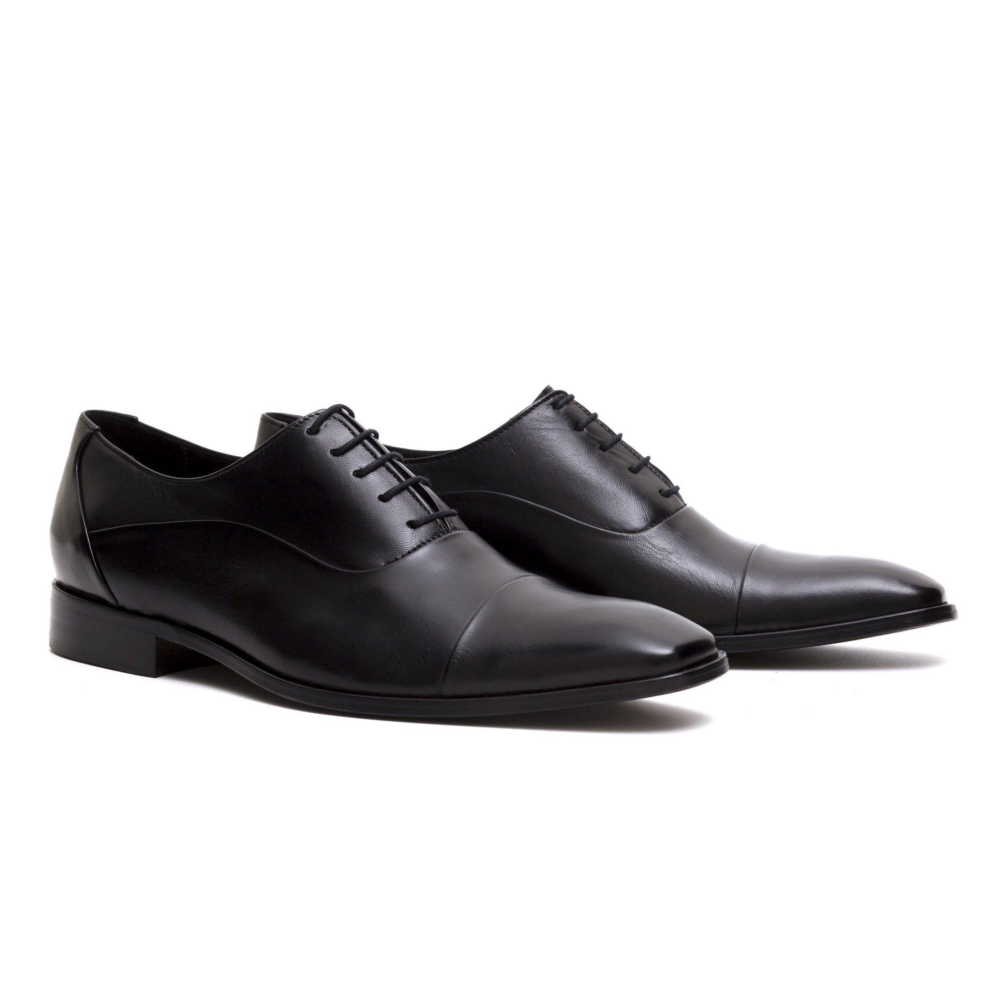 Sapato Masculino Oxford Preto Couro Legítimo Monbran Dressy Lurdes 19099P
