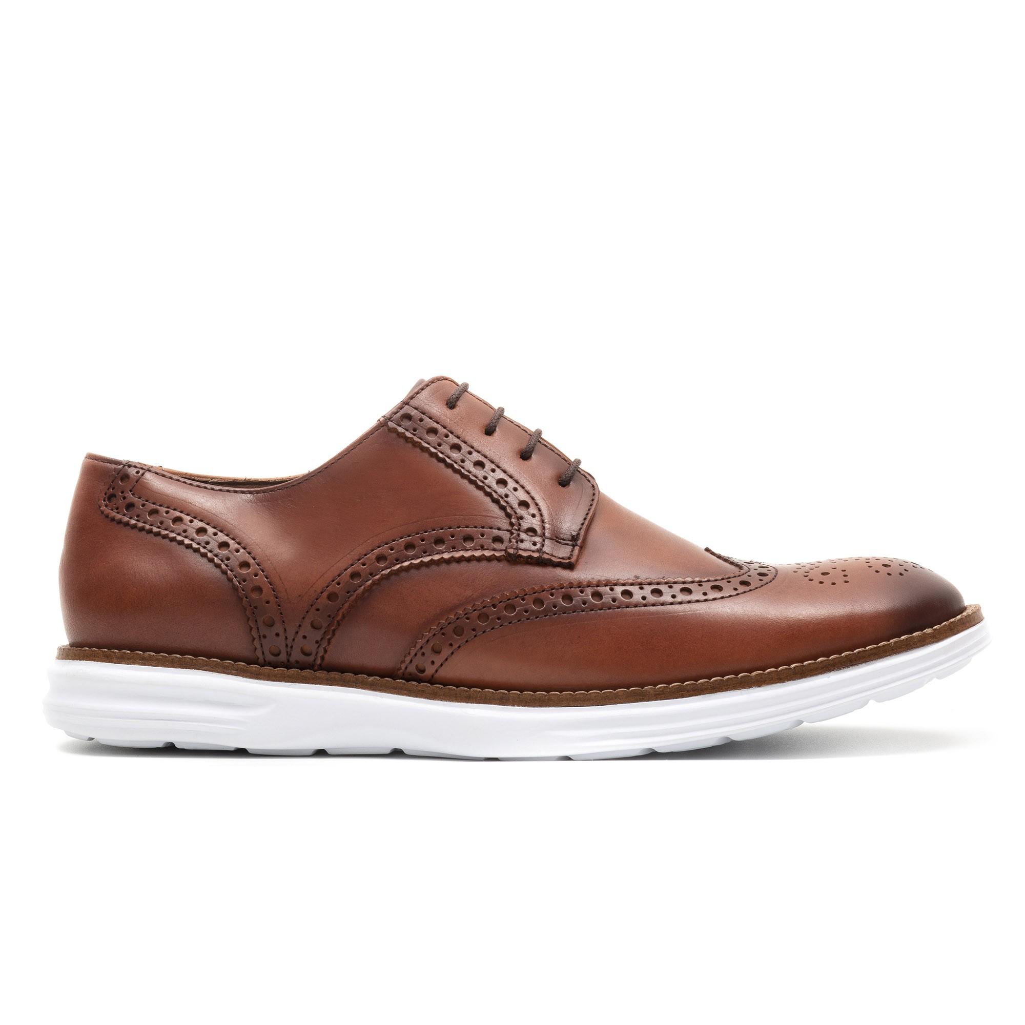 Sapato Brogue Masculino Casual Ezera Conhaque