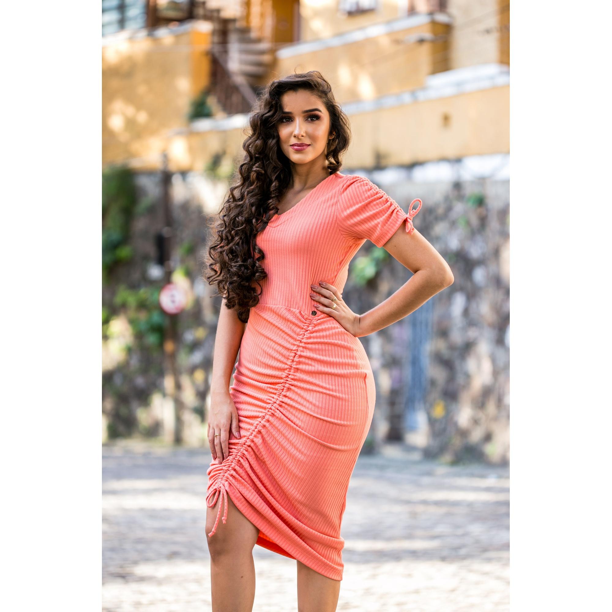 Vestido Rebeca Coral- JP
