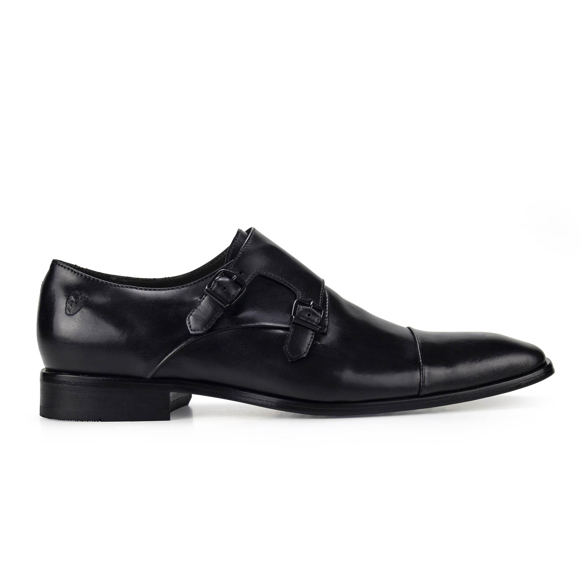 Sapato Monk Strap Masculino Preto