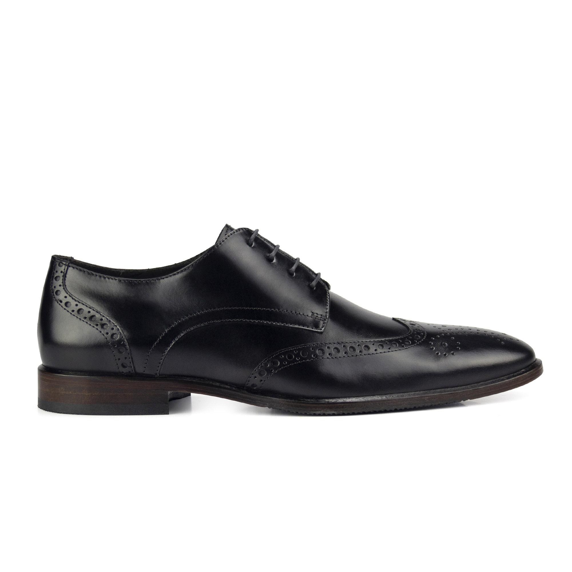 Sapato Derby Semi Brogue Masculino Preto Monbran Dressy