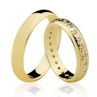 Alianças de Ouro 18k/750 com Diamantes AL23