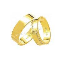 Alianças de Ouro com Diamantes 18k/750 AE125