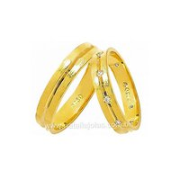 Alianças de Ouro com Diamantes 18k/750 AE127